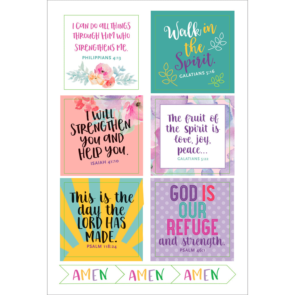 'Faith' Planner Stickers - 12 sheets - Paper Kooka