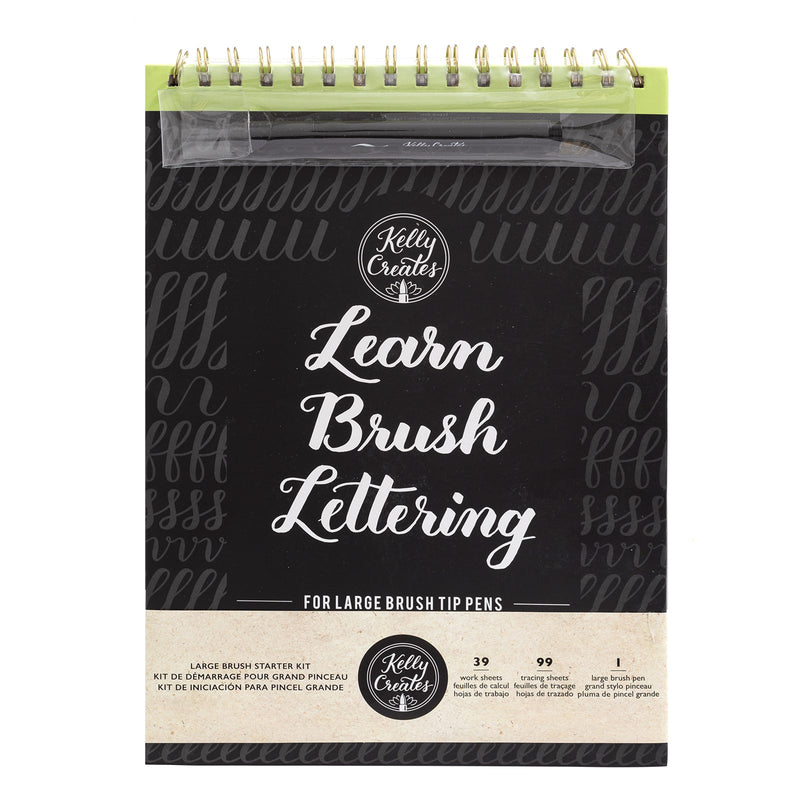 Large Brush - Lettering Workbook and Brush Pen - Paper Kooka