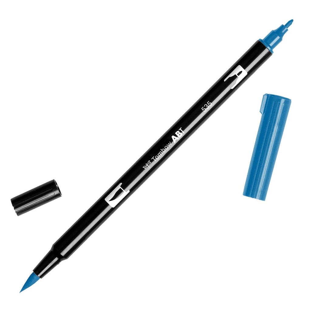 Dual Brush Pen - blue range - SINGLE PENS - Paper Kooka