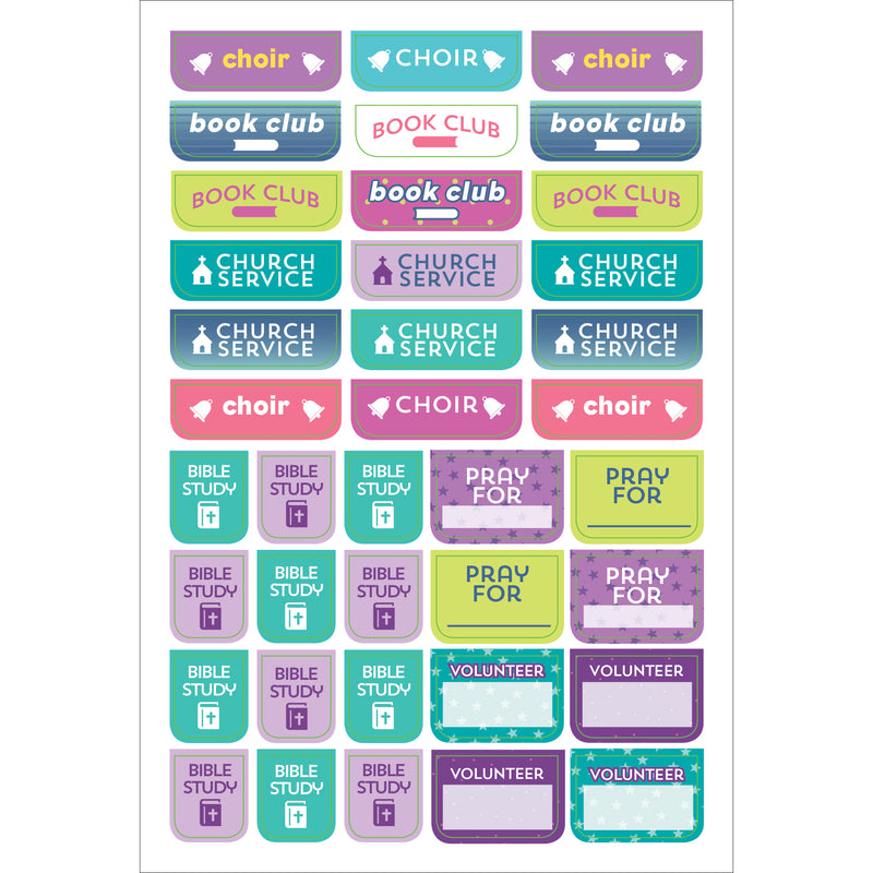 Bible Planner Stickers - 12 sheets - Paper Kooka