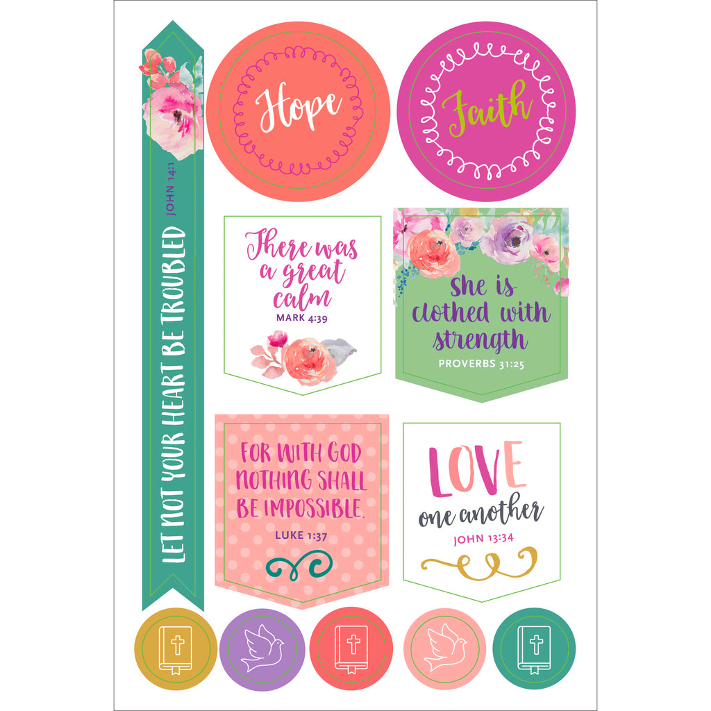 'Faith' Planner Stickers - 12 sheets - Have a Point