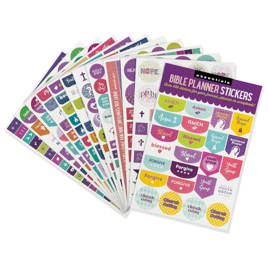 'Bible' Planner Stickers - 12 sheets - Have a Point
