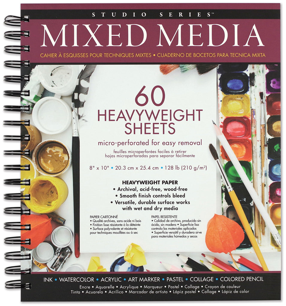 Mixed Media Pad - 60 Heavyweight Sheets - Paper Kooka