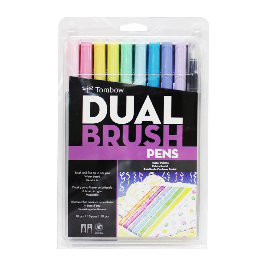 Tombow Dual Brush Pens - 10 Colour Pastel Set - Have a Point
