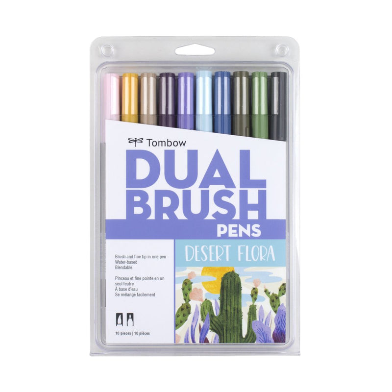 Dual Brush Pens - 10 Colour Desert Flora Set - Paper Kooka