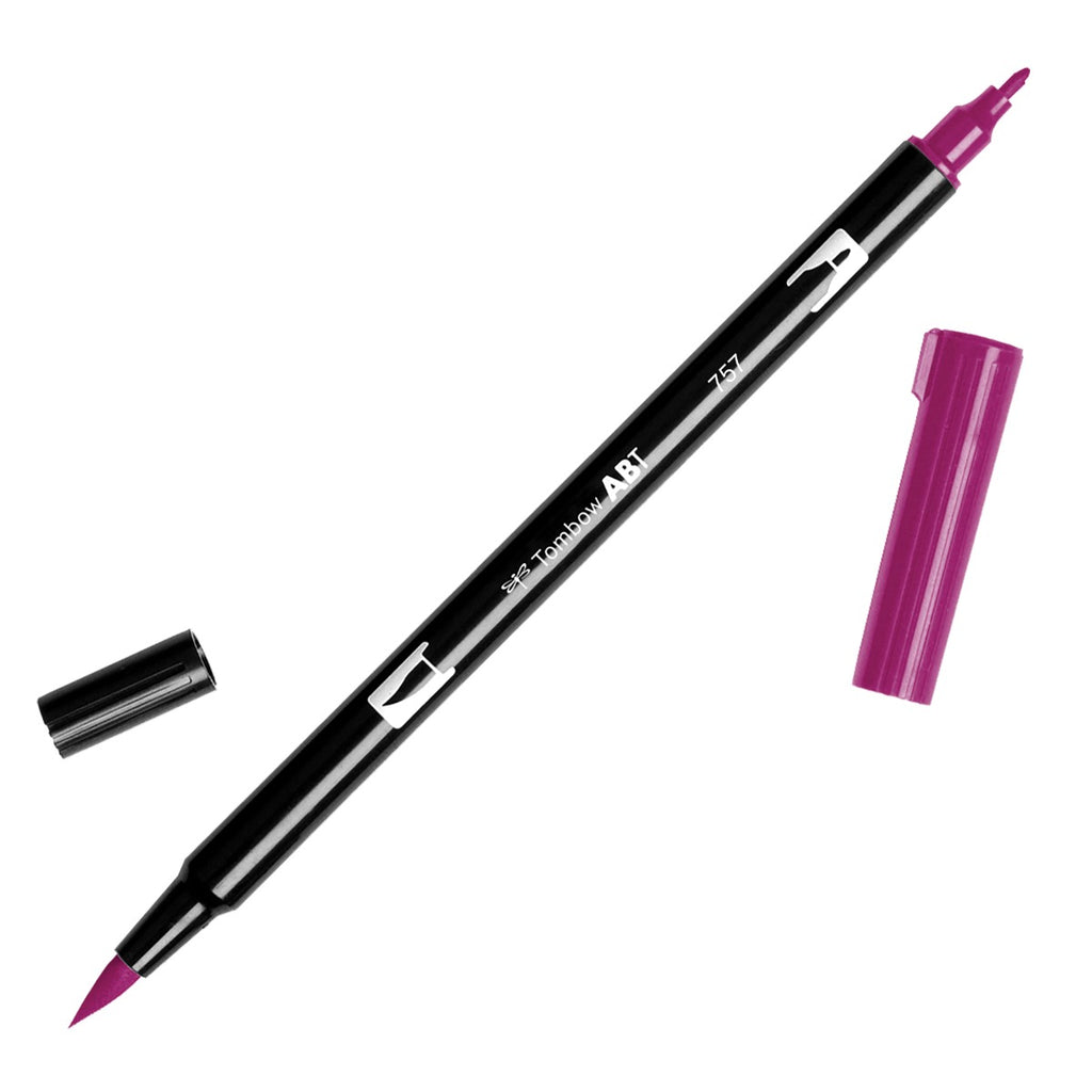 Dual Brush Pen - red violet range - SINGLE PENS - Paper Kooka