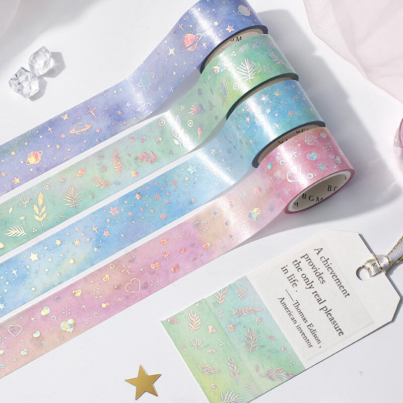 Light Blue Stars washi tape - Paper Kooka