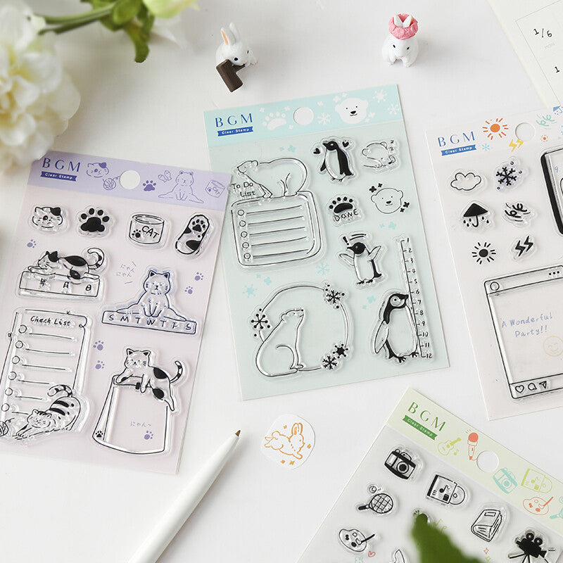 Cat Check List Clear Stamps - Paper Kooka