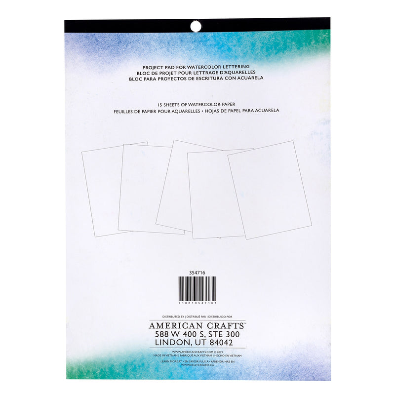 Watercolour Brush Lettering - Blank Smooth Practice Pad (thick paper) - Paper Kooka