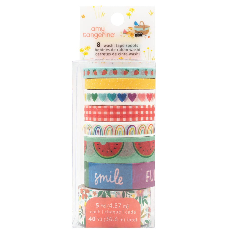 Picnic in the park washi tapes - set of 8 - Paper Kooka