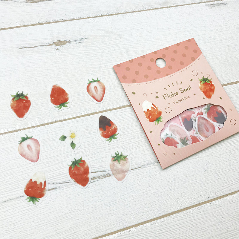 Papier Platz x Moriyue - Strawberry Flake Stickers - Paper Kooka
