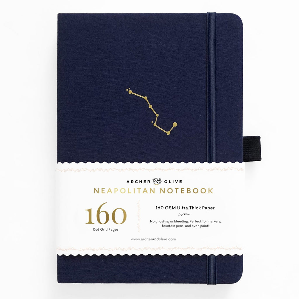 Archer & Olive Night Sky - B5 Neapolitan Notebook - dotted 160gsm - Paper Kooka