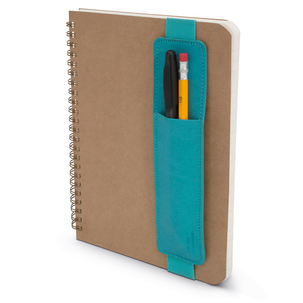 Pen Pouch for A5-A4 Notebooks - Turquoise - Paper Kooka