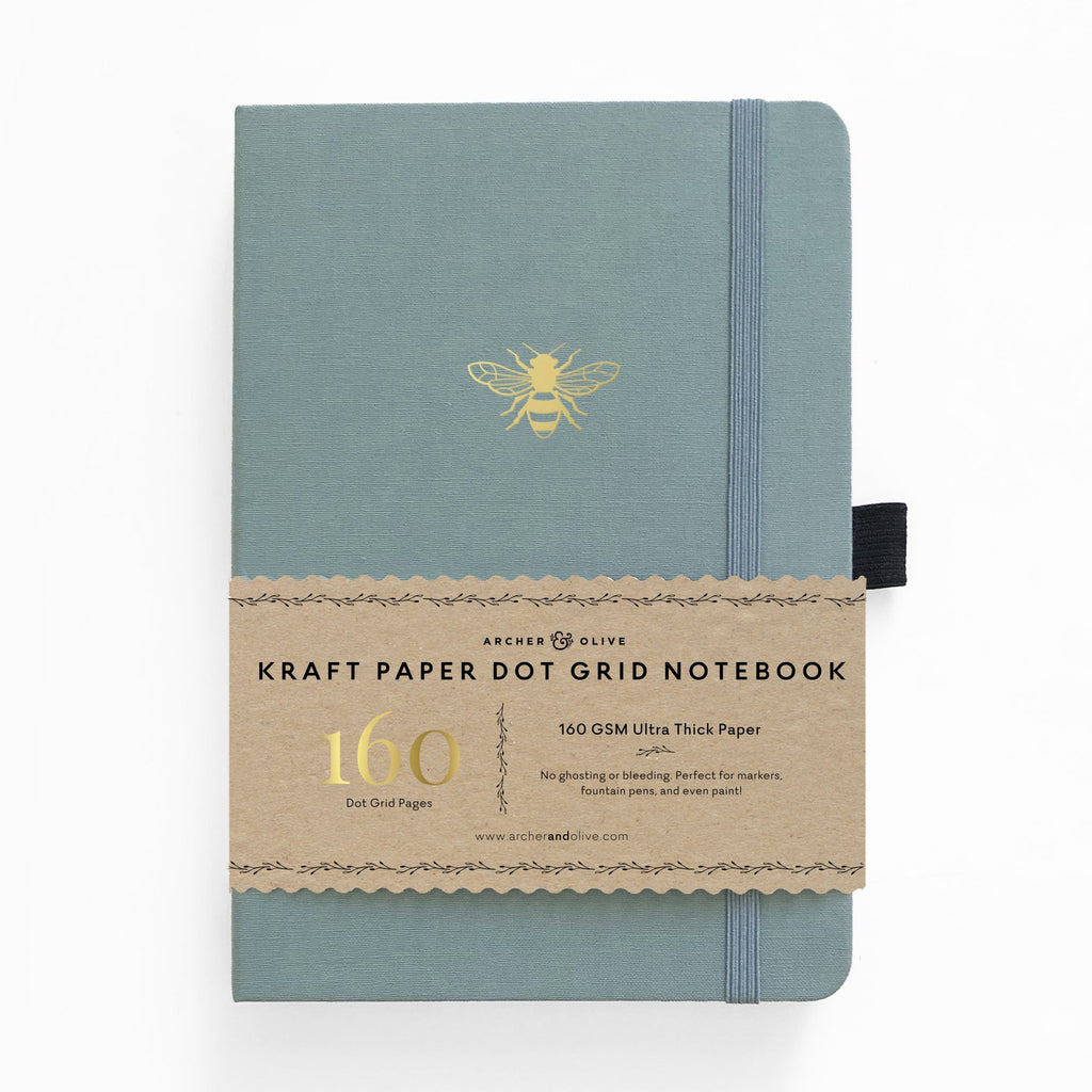 Archer & Olive Vintage Bee - Kraft Paper 160gsm dotted journal - Have a Point