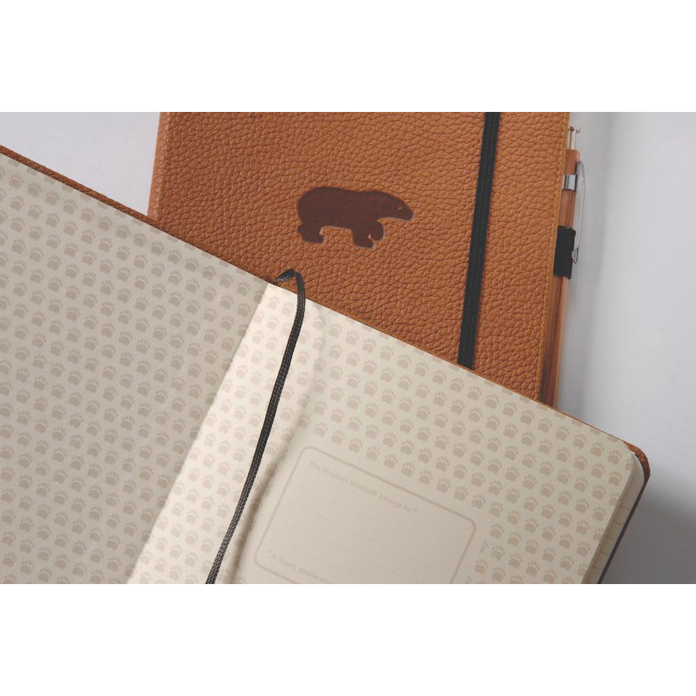 WILDLIFE - Brown Bear - dotted A5+ journal - Paper Kooka
