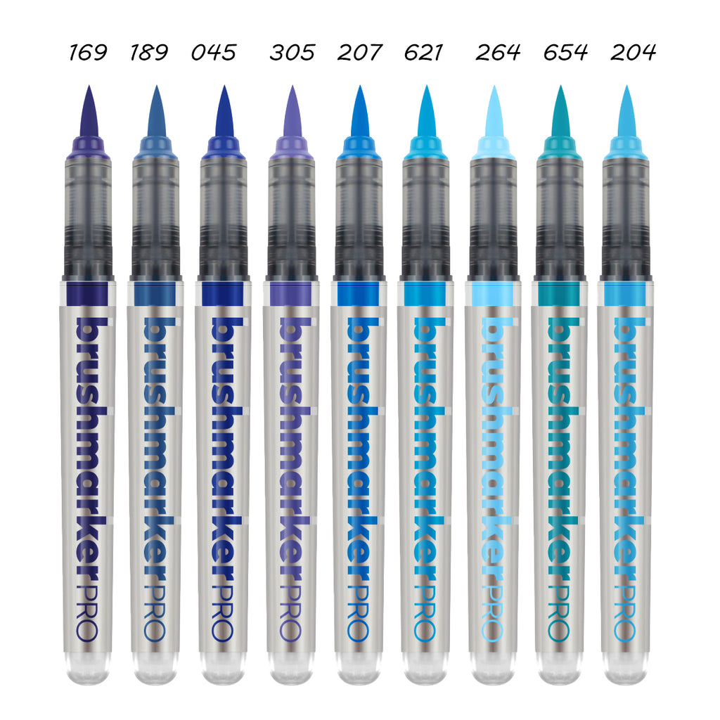 Karin BrushmarkerPRO brush pens - blue range - Have a Point