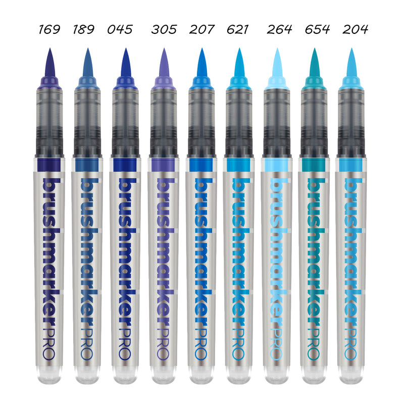 BrushmarkerPRO brush - blue range - SINGLE PENS - Paper Kooka