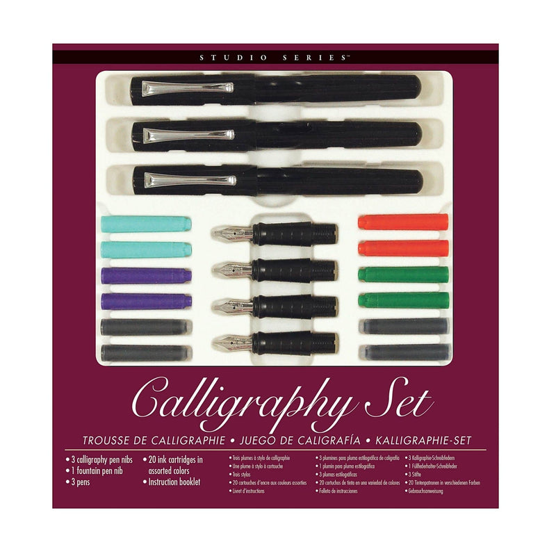 Calligraphy Pen Set with Calligraphy Pen Nibs Fountain Pen Nib three pens and 20 ink cartridges - Paper Kooka