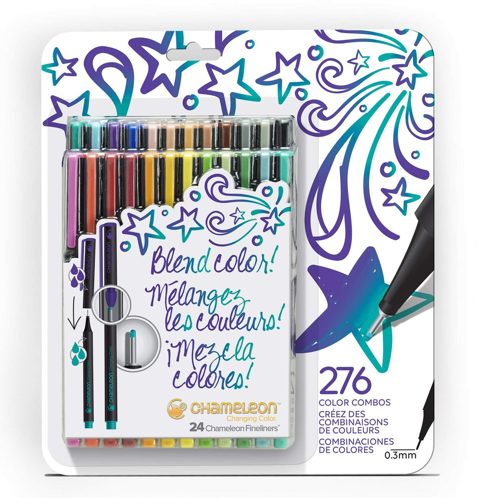 Chameleon Fineliners - Bold Colours 24 Pen Set - Have a Point