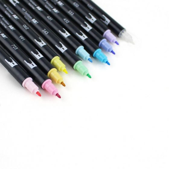 Tombow Dual Brush Pen - 10 Colour Pastel Set - Have a Point
