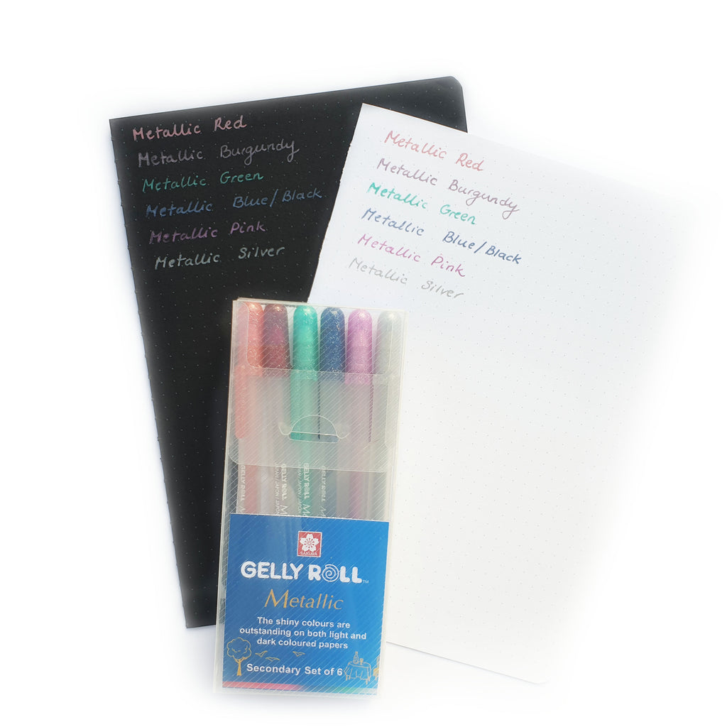 Gelly Roll Metallic - Secondary Set of 6 - Paper Kooka