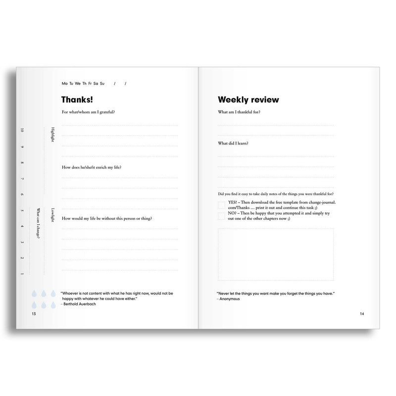 The Change Journal - A5 Guided Productivity Planner - Grey - Paper Kooka