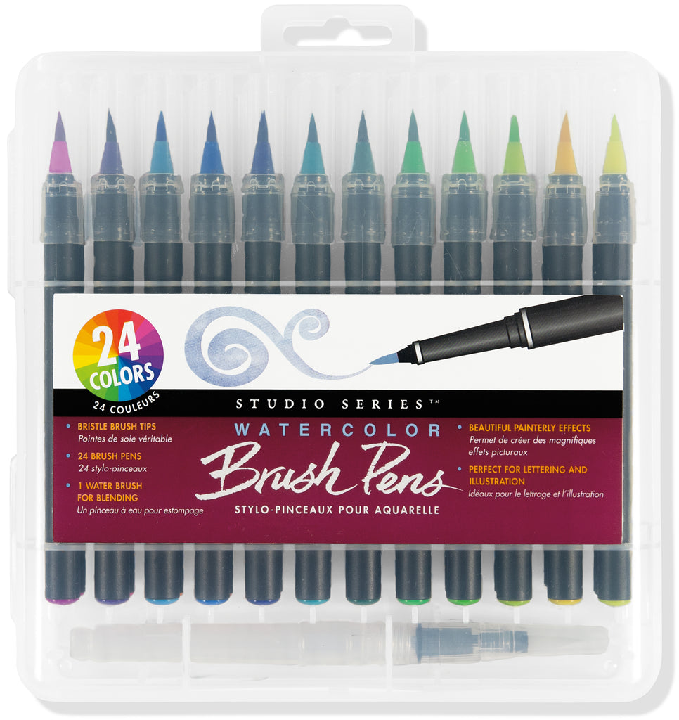 Watercolour Brush Pens - 24 Colour Set - Have a Point