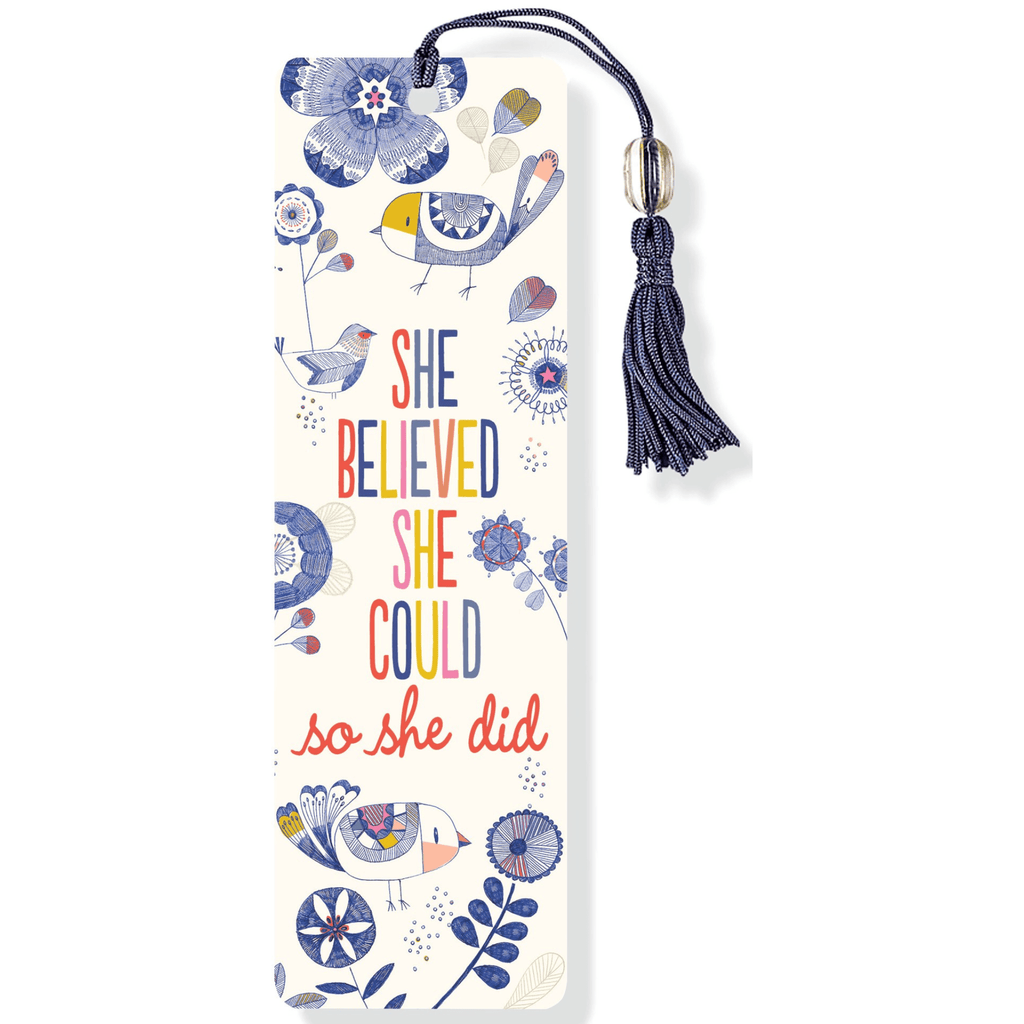 Beaded Bookmark - She Believed She Could, so She Did