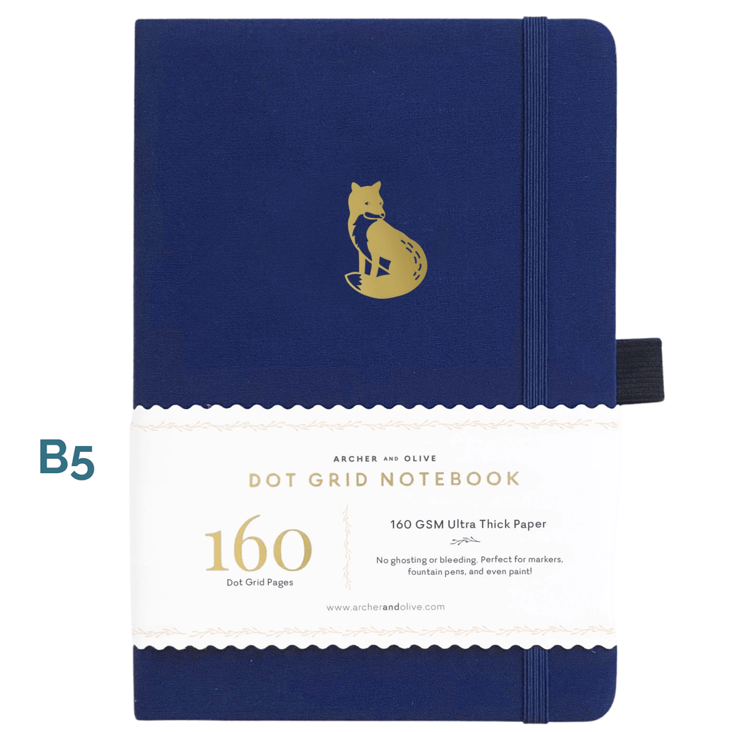 B5 Clever Fox Dot Grid Notebook - Paper Kooka