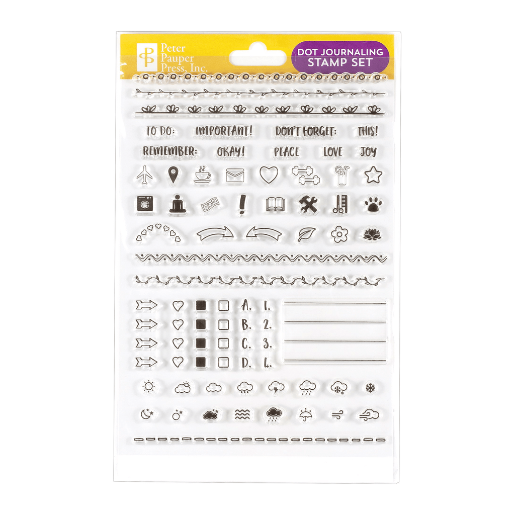 Dot Journaling Clear Stamp Set - Paper Kooka