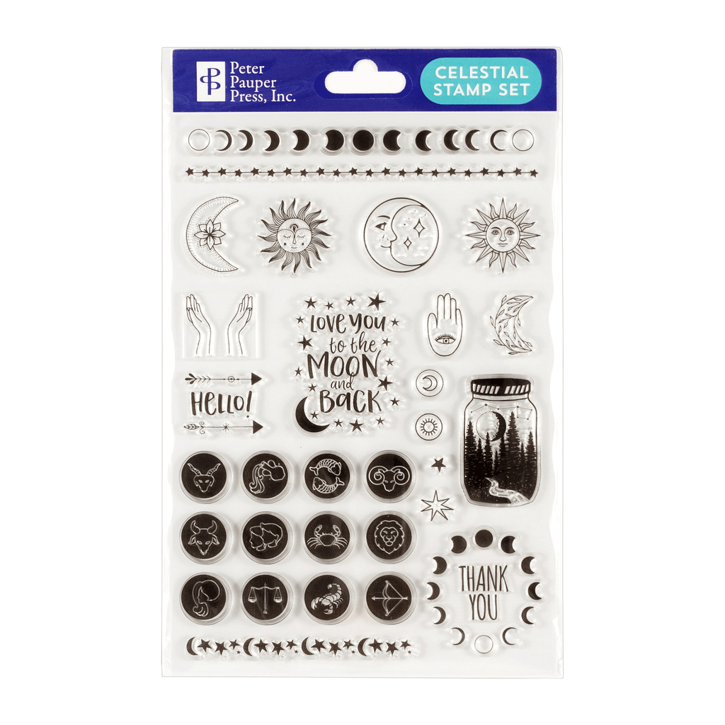 Celestial Clear Stamp Set - Paper Kooka