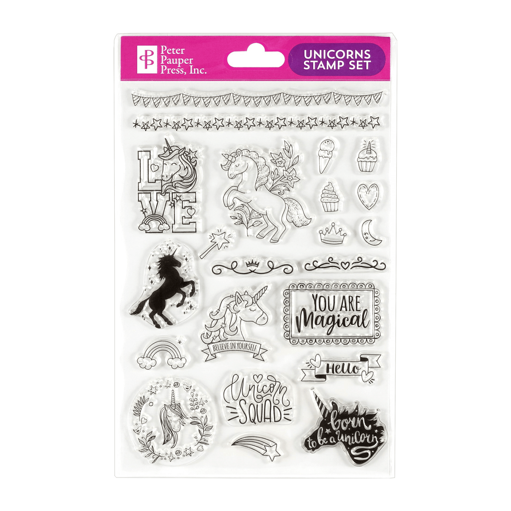 Unicorns Clear Stamp Set - Paper Kooka