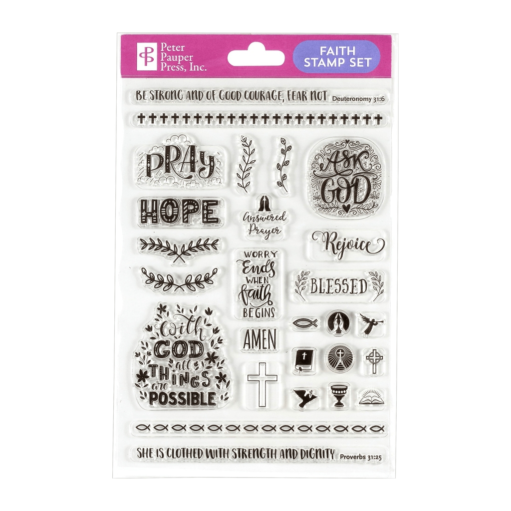 Faith Clear Stamp Set - Paper Kooka