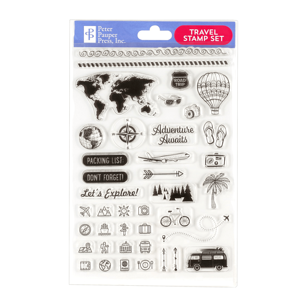 Travel Clear Stamp Set - Paper Kooka