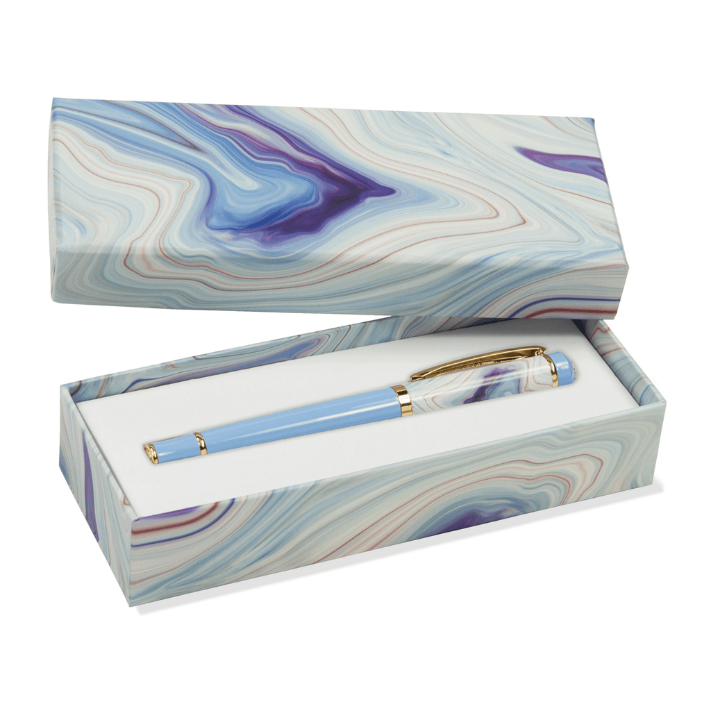 Roller Ball Pen - Blue Agate