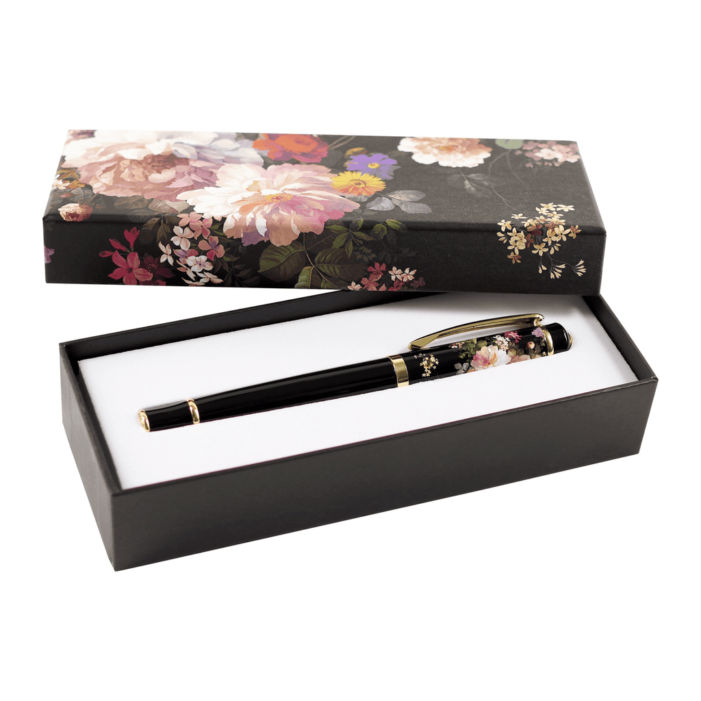 Roller Ball Pen - Midnight Floral - Paper Kooka