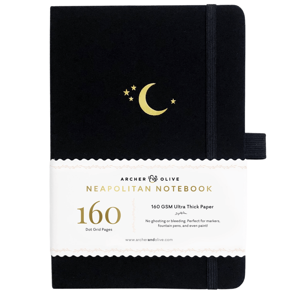B5 Crescent Moon Neapolitan Dot Grid Notebook - Paper Kooka