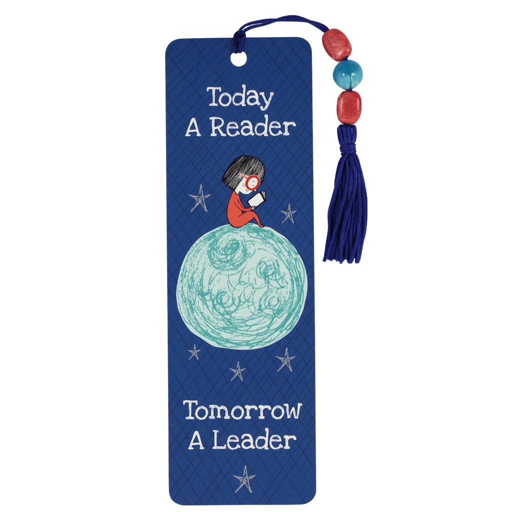 Beaded Bookmark - Today a Reader, Tomorrow a Leader - Paper Kooka