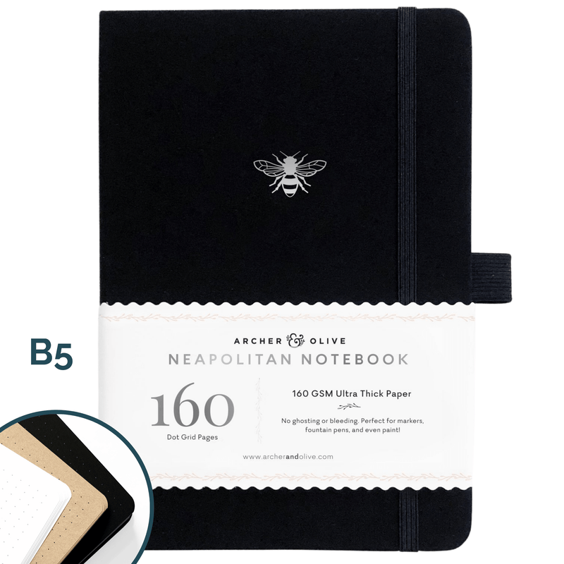 B5 Silver Bee Limited Edition Neapolitan Dot Grid Notebook - Paper Kooka