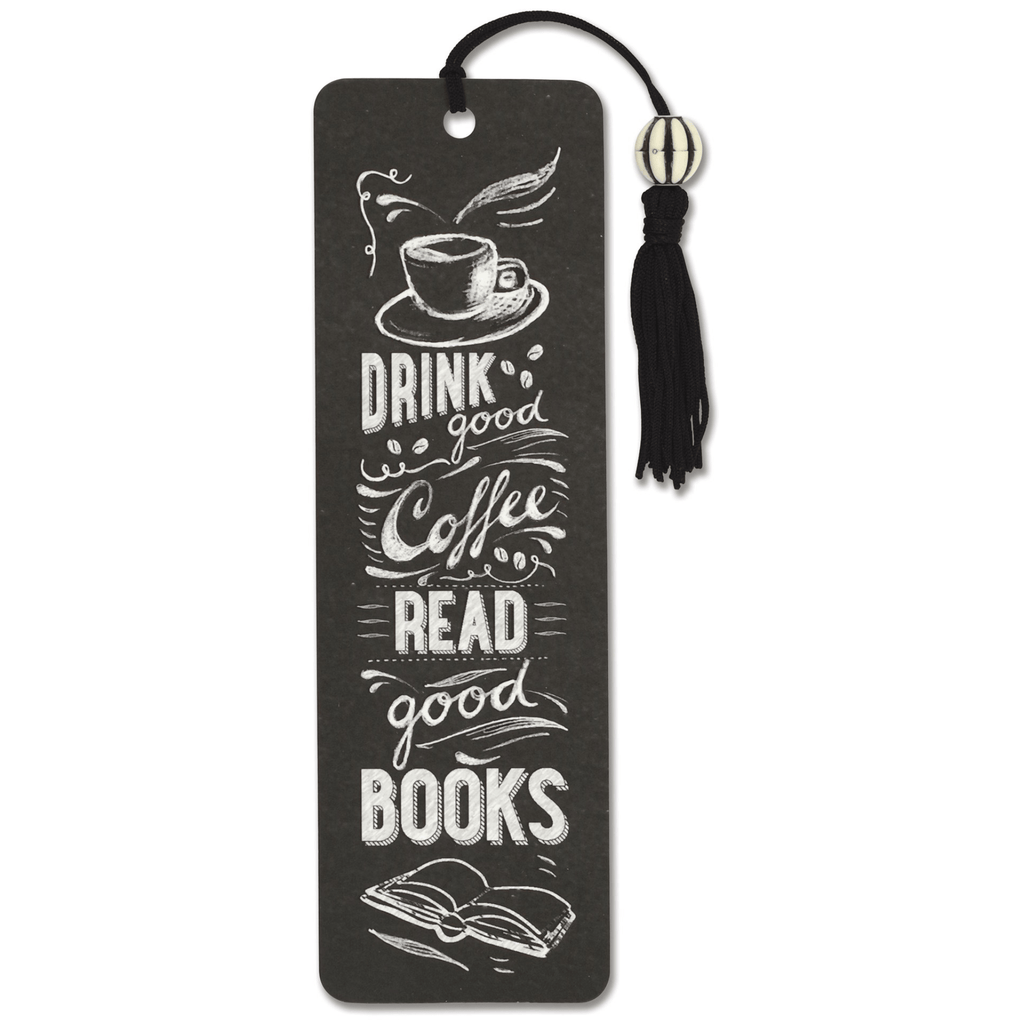 Beaded Bookmark - Coffee & Books - Paper Kooka