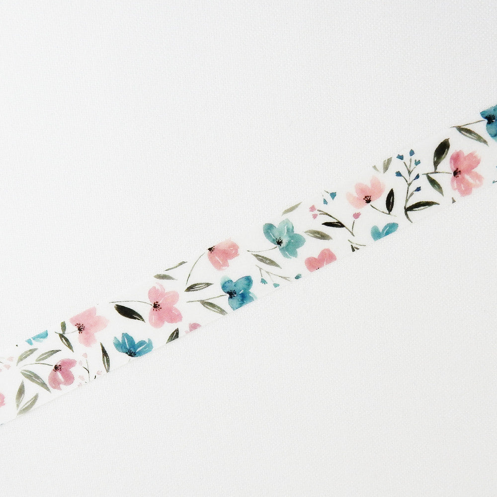 Pink & Blue Flowers washi tape - Have a Point