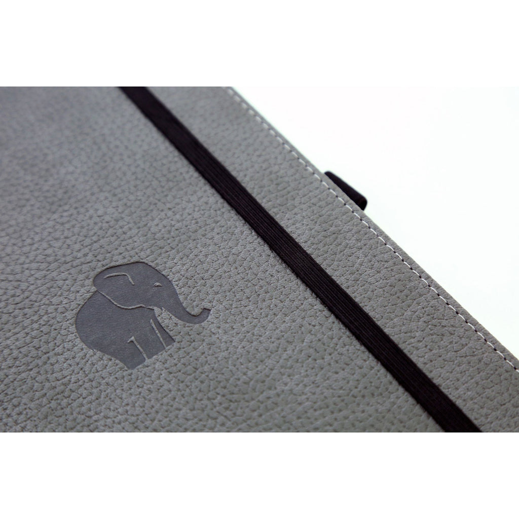 WILDLIFE - Grey Elephant - dotted A5+ journal - Paper Kooka