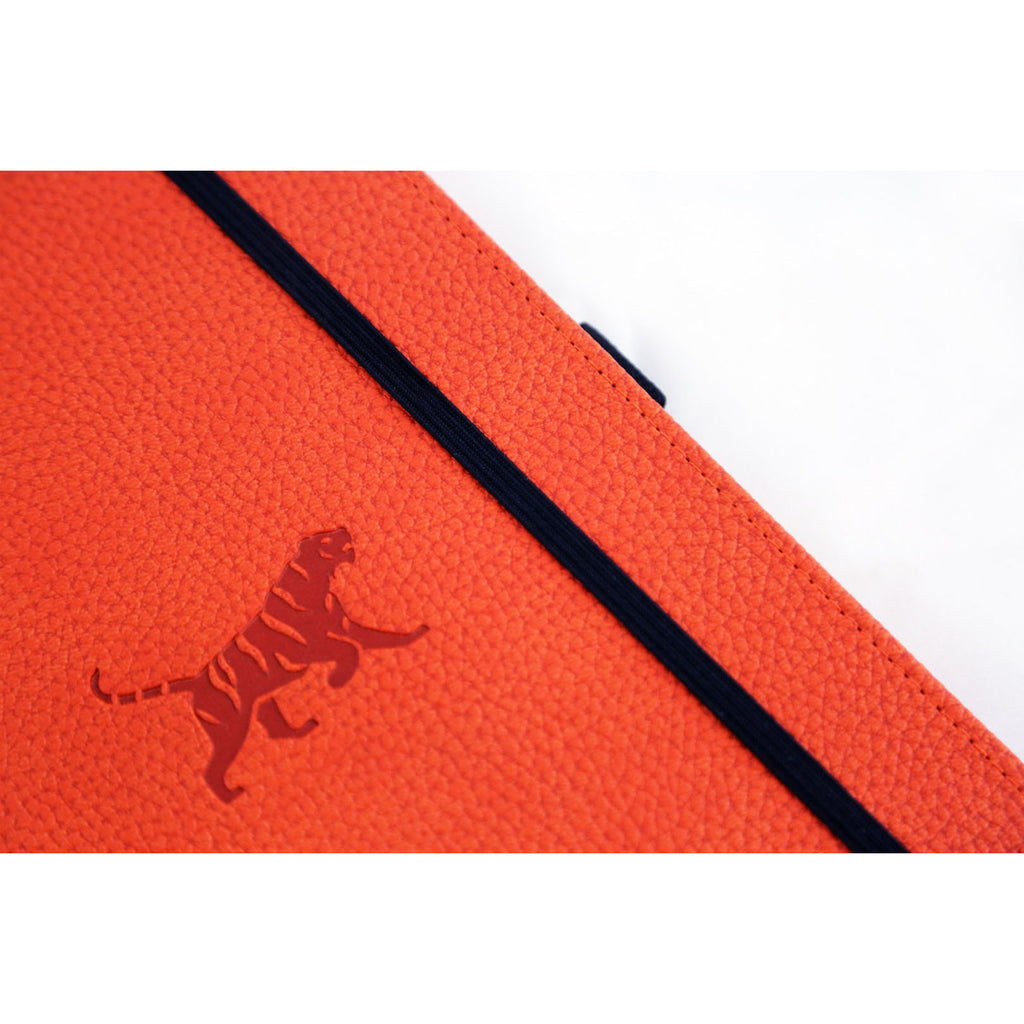 'Wildlife - Orange Tiger' dotted Bullet Journal - Dingbats* A5+ - Have a Point