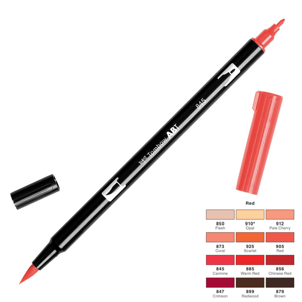 Tombow Dual Brush Pen - Red Colour Range - Have a Point