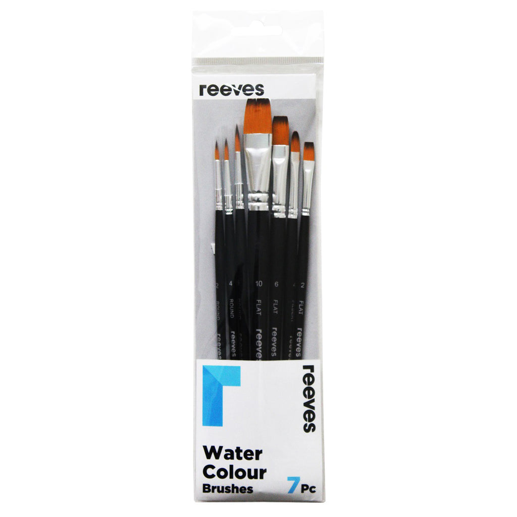Reeves Watercolour - 7 Brush Set - Paper Kooka