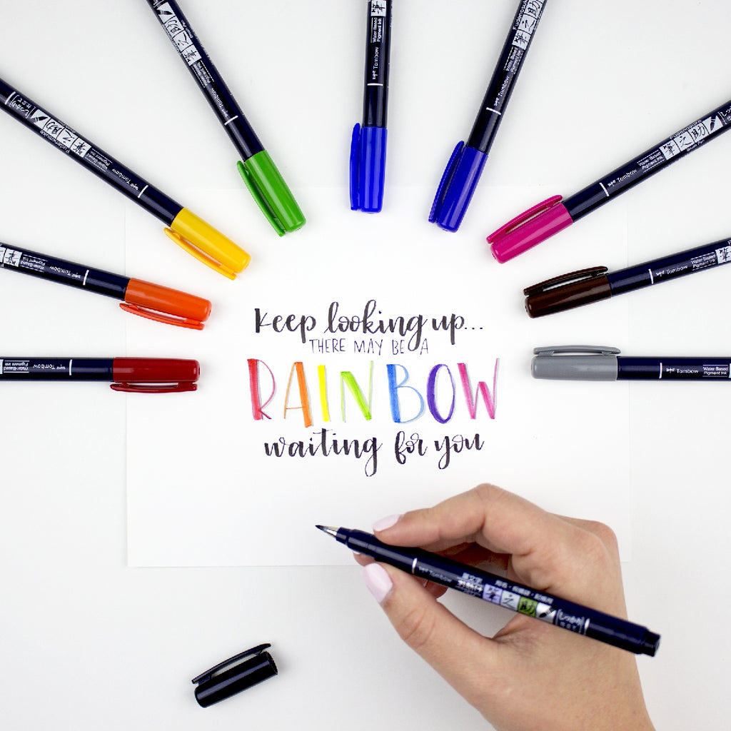 Tombow Fudenosuke Brush Pen - 10 Colour Set - Have a Point