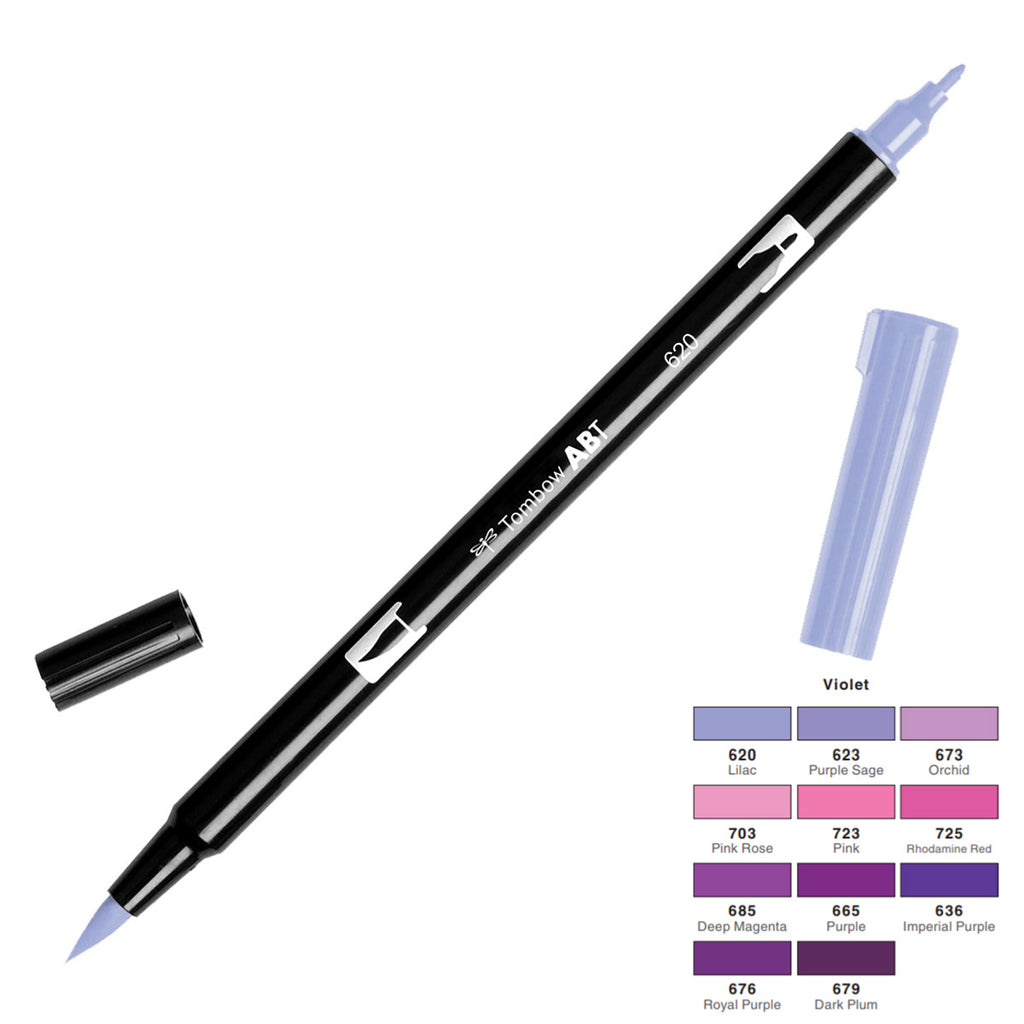 Tombow Dual Brush Pen - Violet Colour Range - Have a Point