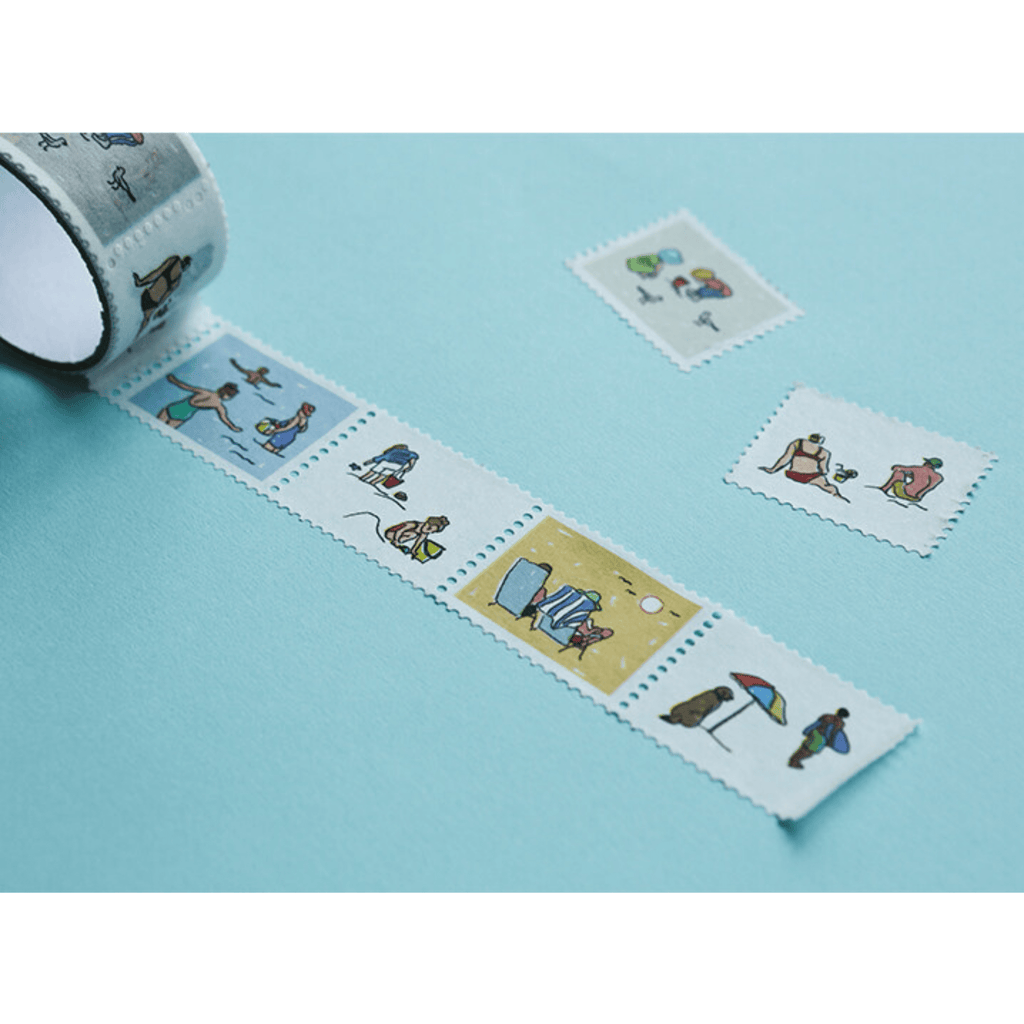 Vacations stamp washi tape - Paper Kooka