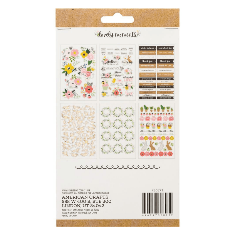 Lovely Moments Planner Stickers - 6 sheets - Paper Kooka