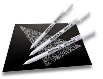 Gelly Roll - White - SINGLE PENS - Paper Kooka